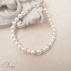 """Bracelet mariée perles strass de cristal personnalisable """"Holly"""""""