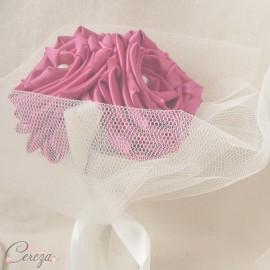 Bouquet demoiselle d'honneur Cléo mariage rose fuchsia