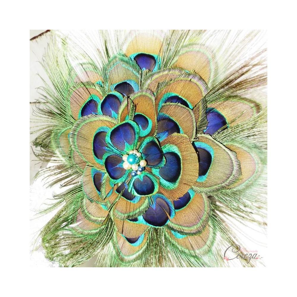 Bouquet de mari e plumes de paon accessoires coordonn s for Bouquet original