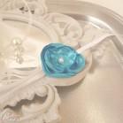 Bracelet fleur bleu turquoise demoiselle d'honneur personnalisable Adèle