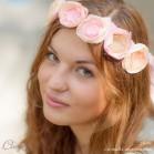 Couronne de mariée fleurs bijou de coiffure poudré 'Flora'