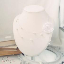 Collier de mariée floral personnalisable 'Eléa'