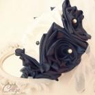 Bouquet de mariée baroque ivoire noir 'Anaé'
