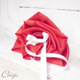 Porte-alliance Duo original rouge ivoire personnalisé