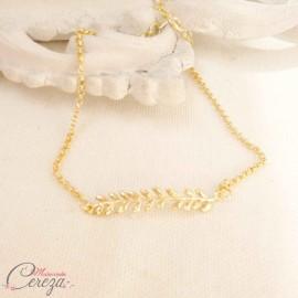 """Bracelet mariée champêtre chic feuille art déco """"Nature"""""""