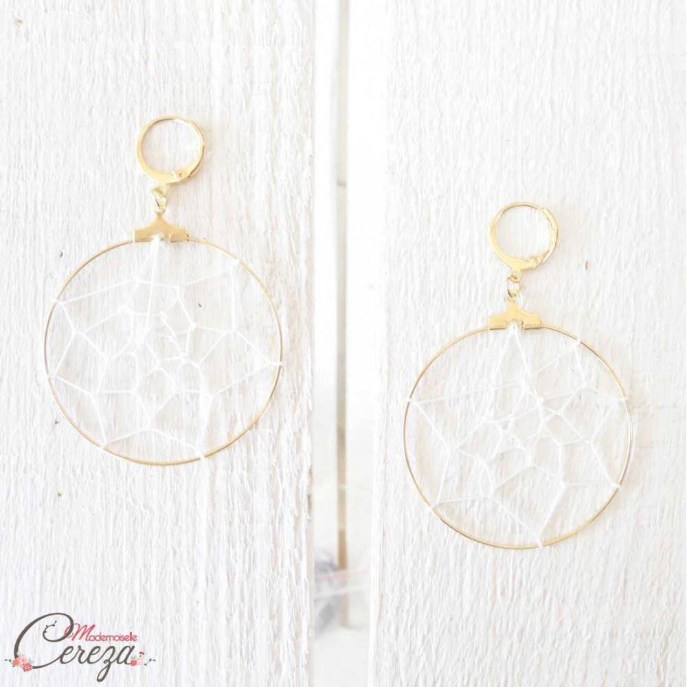 mariage boheme chic bijoux boucles oreilles original dreamcatcher. Black Bedroom Furniture Sets. Home Design Ideas