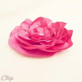 "Broche fleur rose fucshia strass cristal Swarovski bijou mariage personnalisable ""Venezzia"""