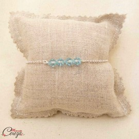 """Quelque chose de bleu bracelet mariée cristal Swarovski """"Céleste"""" - bijou mariage"""