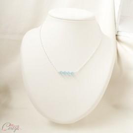 Collier de mariée pendentif cristal Swarovski bleu 'Céleste'