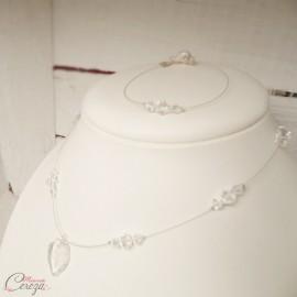 "Bracelet mariée ou témoin perles de cristal Swarovski personnalisable ""Ana"""