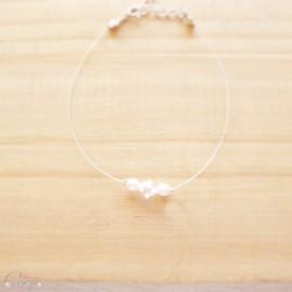 """Bracelet mariée témoin simple et joli perles et cristal Swarovski personnalisable """"Candice"""""""