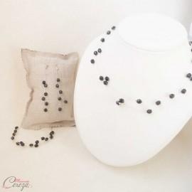 """Bracelet mariée perles noires chic personnalisable """"Edith"""""""