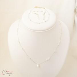 """Bracelet rétro chic petites perles et cristal Swarovski personnalisable """"Samara"""" - Bijoux mariage"""