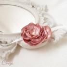 Accessoire fleuri demoiselle d'honneur mariage vieux rose bracelet Adèle