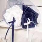 """Mariage thème mer bleu marine blanc coussin alliances fleur original """"Simplicité"""""""