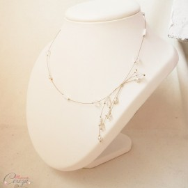 "Collier mariée romantique perles et cristal Swarovski original personnalisable ''Amalia"" bijou mariage"