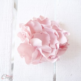 Barrette fleur rose poudré coiffure de mariée - Accessoire mariage sur-mesure