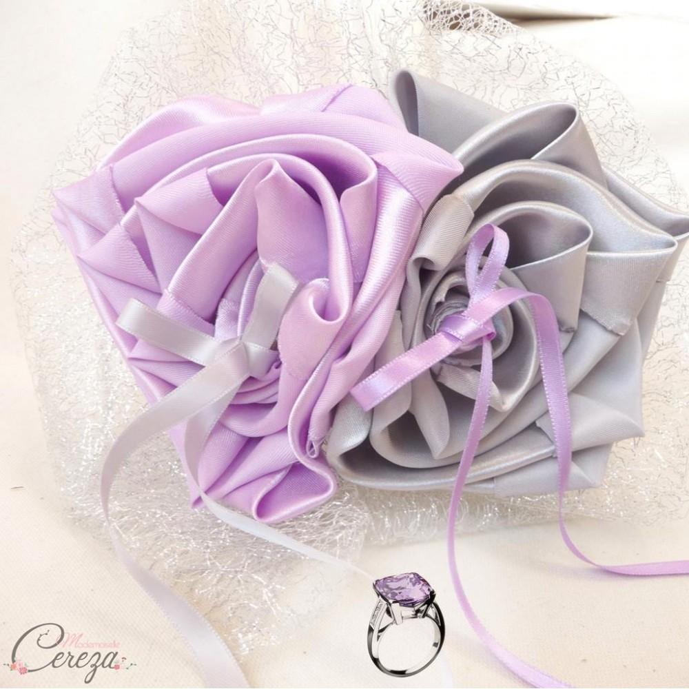 porte alliance mariage mauve parme argent gris 39 amour 39 melle cereza bijoux et accessoires de. Black Bedroom Furniture Sets. Home Design Ideas
