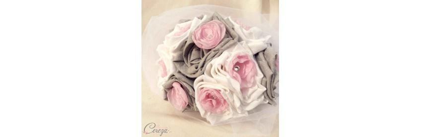 Mariage rose et gris