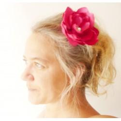 Bijou de coiffure mariée fleur et strass de cristal Pivoine