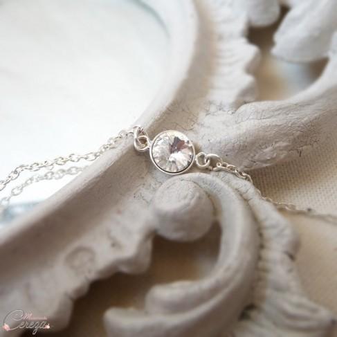 """Bracelet mariée strass de cristal """"Précieuse"""""""