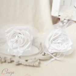 Porte alliance original fleur mariage romantique Duo