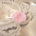 Barrette demoiselle d'honneur fleur rose pâle Léa personnalisable