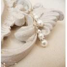 """Boucles d'oreille mariée perles et strass de cristal personnalisables """"Holly"""""""