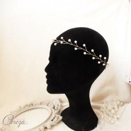 Bijou de cheveux headband couronne de perles mariée  'Lili'