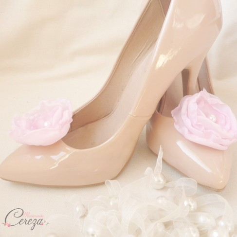 Mariage rose bijoux de chaussures shoe clip Laura