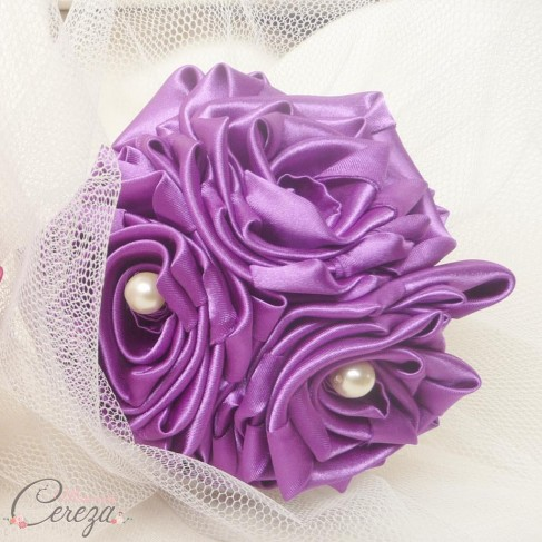 Bouquet demoiselle d'honneur Cléo mariage violet