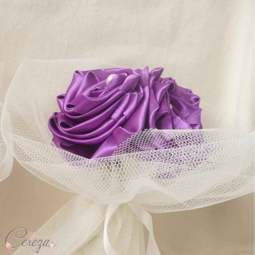 bouquet demoiselle honneur mariage violet cleo