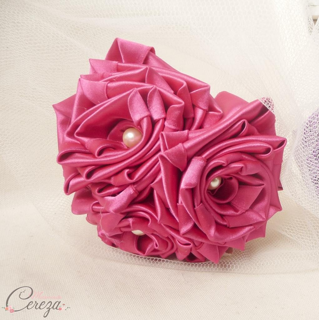bouquet demoiselle honneur mariage rose fuchsia cleo