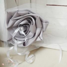 Porte-alliance original personnalisable Duo gris blanc