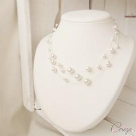 Collier de mariée perles nacrées rétro romantique 3 rangs 'Jackie'