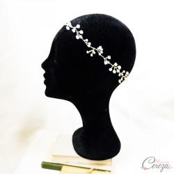 Headband mariage perles et cristaux précieux 'Pia'