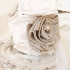 Bouquet 'Lilou' mariage campagne chic lin et dentelle