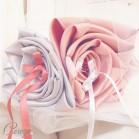 Mariage vieux rose gris perle argent porte-alliances original floral personnalisable 'Simplicité'