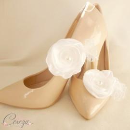 Mariage dentelle rétro bijou de chaussure floral Louise