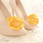 Mariage orange bijoux de chaussures shoe clip Laura