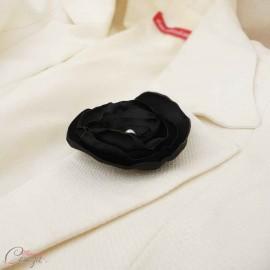"""Broche fleur noire perle blanche bijou mariage cérémonie personnalisable """"Laura"""""""