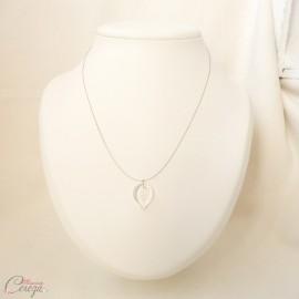 Collier mariée cristal nature chic minimaliste 'Alyssa' - bijoux mariage personnalisables