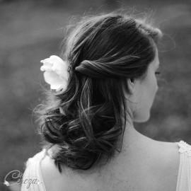 """Bijou de coiffure rétro mariage vert mint """"Pivoine"""""""