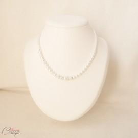 Collier de mariée perles strass rétro féérique 'Holly'