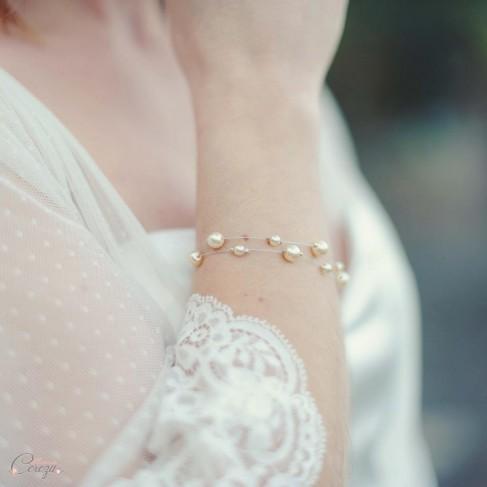 Rang Personnalisable Mariée Perles Bracelet Double iuZOkTPX