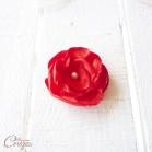 """Barrette fleur rouge blanc demoiselle d'honneur mariage """"Léa"""""""