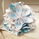 Bouquet de mariée sur-mesure paroles chanson turquoise blanc - noir blanc