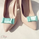 Accessoire mariage rétro clips chaussures vert menthe mint 'Mary'