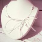 Collier de mariée plumes perles original bohème 'Maxine'
