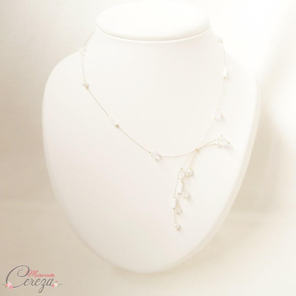 collier mariée romantique perles original précieux Melle Cereza